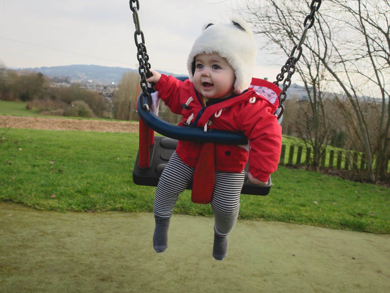 Baby on Swings