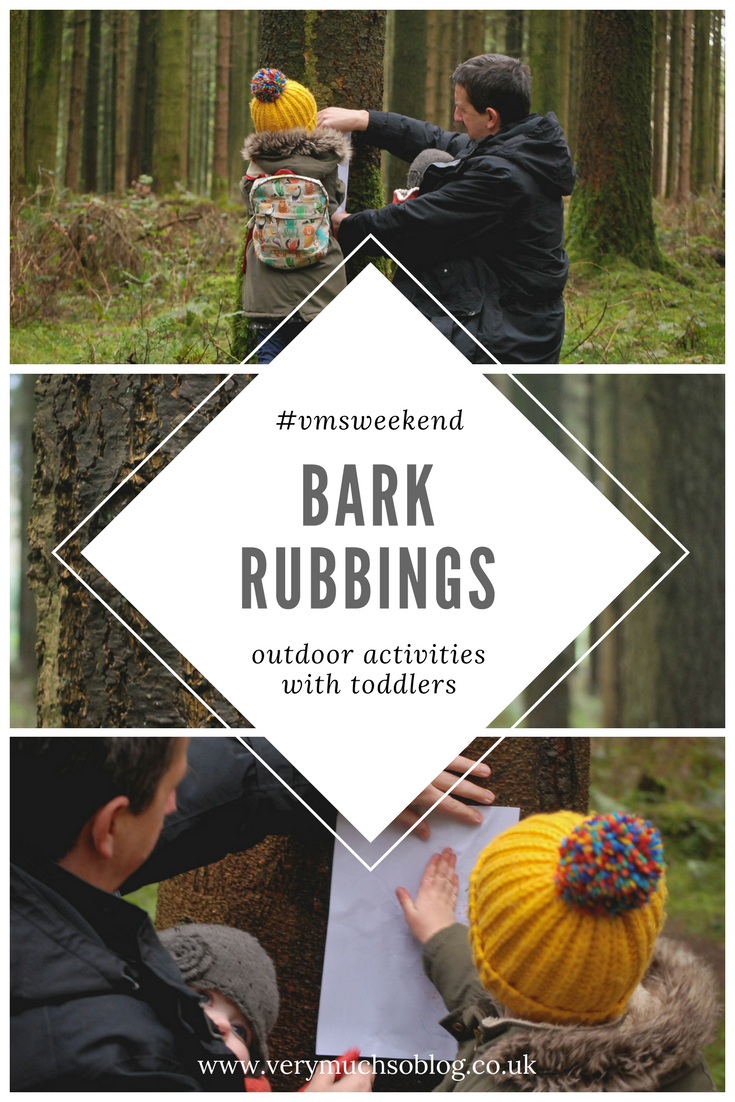 Easy Winter Outdoor Activity For Toddlers - Making Bark Rubbings.