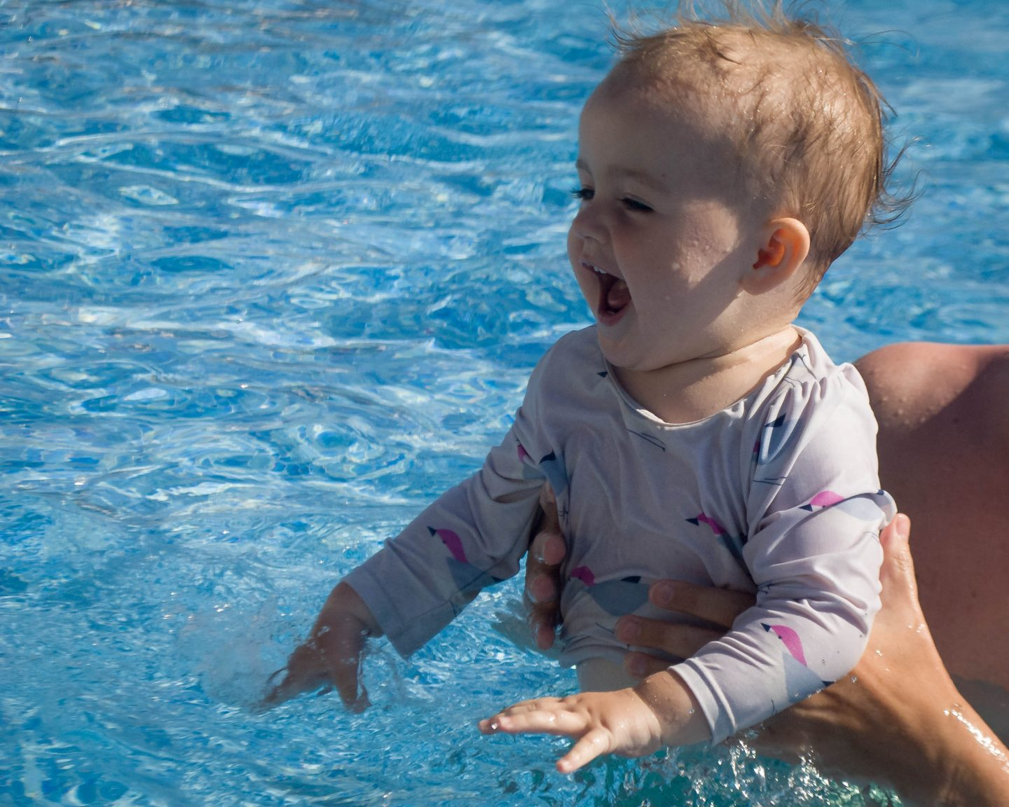 Swimming with a One Year Old on Holiday | Happy Nappy Review