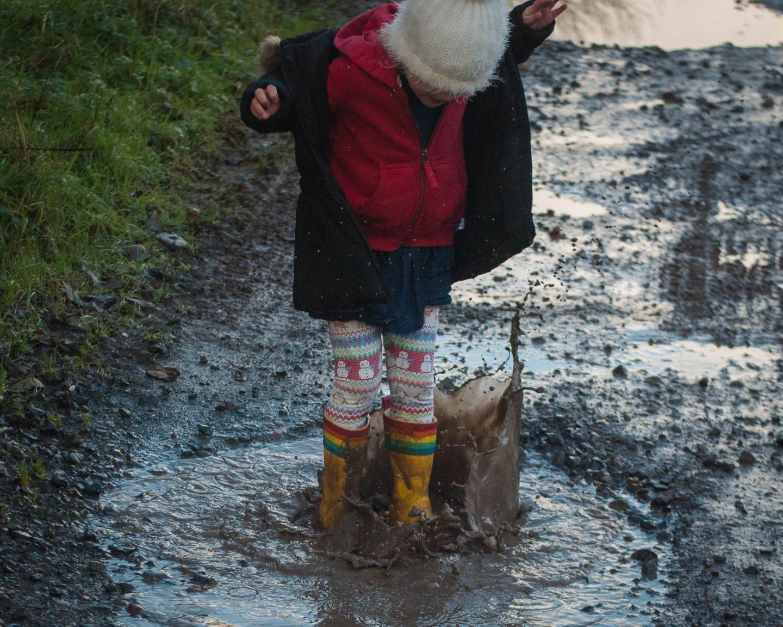 Puddle Splashing | Winter Bucket List